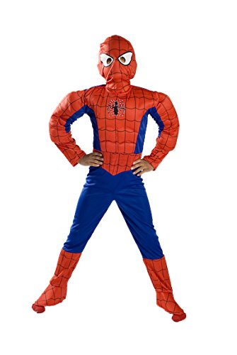 Spiderman Costume Boys kids light up Size S M FREE MASK 4 5 6 7 8 9 (Spiderman Halloween Costume Toddler)