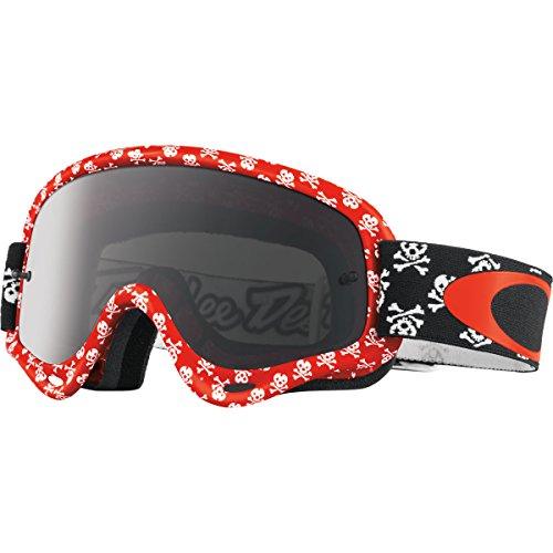 Oakley XS O Frame MX Men's TLD Goggles (Skullbone Red Frame/Dark Grey - Oakley Red Goggles