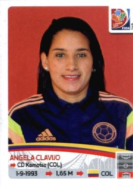 2015 Panini Women's World Cup Sticker #446 Angela Clavijo TEAM COLUMBIA (Angela Cup)