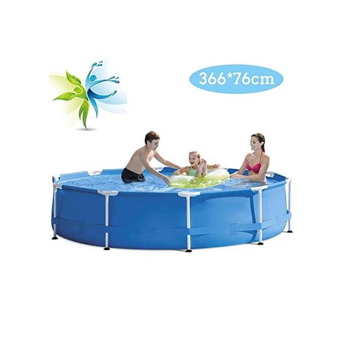 41kWvCdSMQL SIN FIN DE VERANO FUN: niños y adultos de todas las edades pueden disfrutar de la natación y salpicaduras Piscina sobra la tierra. Es la alternativa económica a una piscina de paredes de acero más complicado, sin embargo, proporciona una durabilidad y estabilidad mayor de opciones de la piscina inflable .. Construcción duradera: El marco robusto de metal es para resistencia a la oxidación con recubrimiento de polvo y tiene paredes laterales laminadas super-resistentes que están reforzados con una banda de alrededor de mantener patas de estructura firmemente en su lugar. CARACTERÍSTICAS: Las piscinas tapón de vaciado acepta una manguera de jardín para el agua de drenaje lejos de la zona ool como se desea y es la manera perfecta para combatir el calor del verano para la diversión del patio trasero.