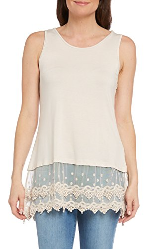 kaktus-womens-lace-camisole-tank-and-shirt-extender-tan-xl