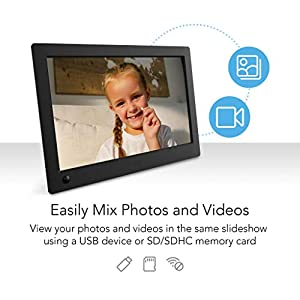NIX Advance 8 Inch USB Digital Photo Frame Widescreen – HD IPS Display, Auto-rotate, Motion Sensor, Remote Control – Mix…