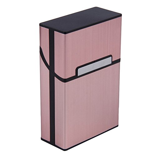 Holder Box Métal Poche Cigare rose Tabac Case Aluminium Cigarette Rouge qq0wP