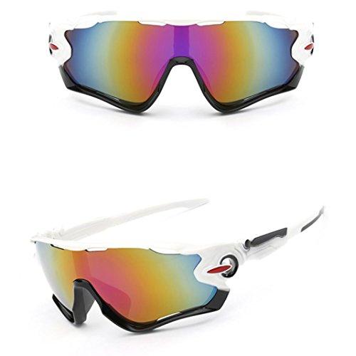 Makalon White New UV400 Lens sunglasses outdoor sports mountain bike - Sol Eyewear