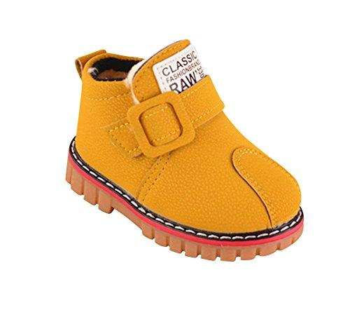 Unisex Baby Wasserdicht Schuhe Warme Kinderschuhe Lauflernschuhe Für Jungen Mädchen Gelb