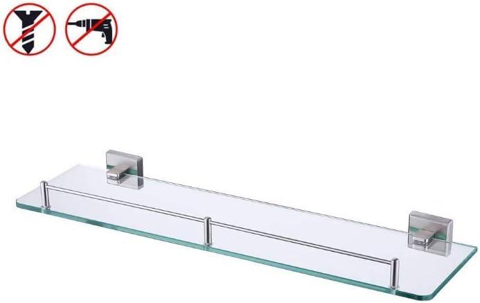 KES Bathroom Glass Shelf 1 Tier Shower Caddy Bath Basket Stainless Steel RUSTPROOF Wall Mount NO Drilling Brushed Finish, A2420ADG-2 - -