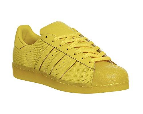 adidas Originals Superstar Adicolor para hombre de la zapatilla de deporte amarillo S80328 Amarillo