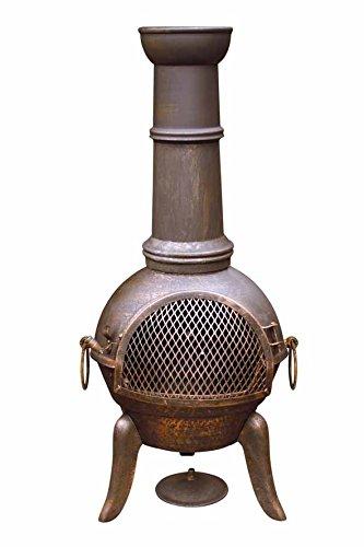 Gardeco 112cm Granada Cast Iron Chimenea GRANADA112-BR