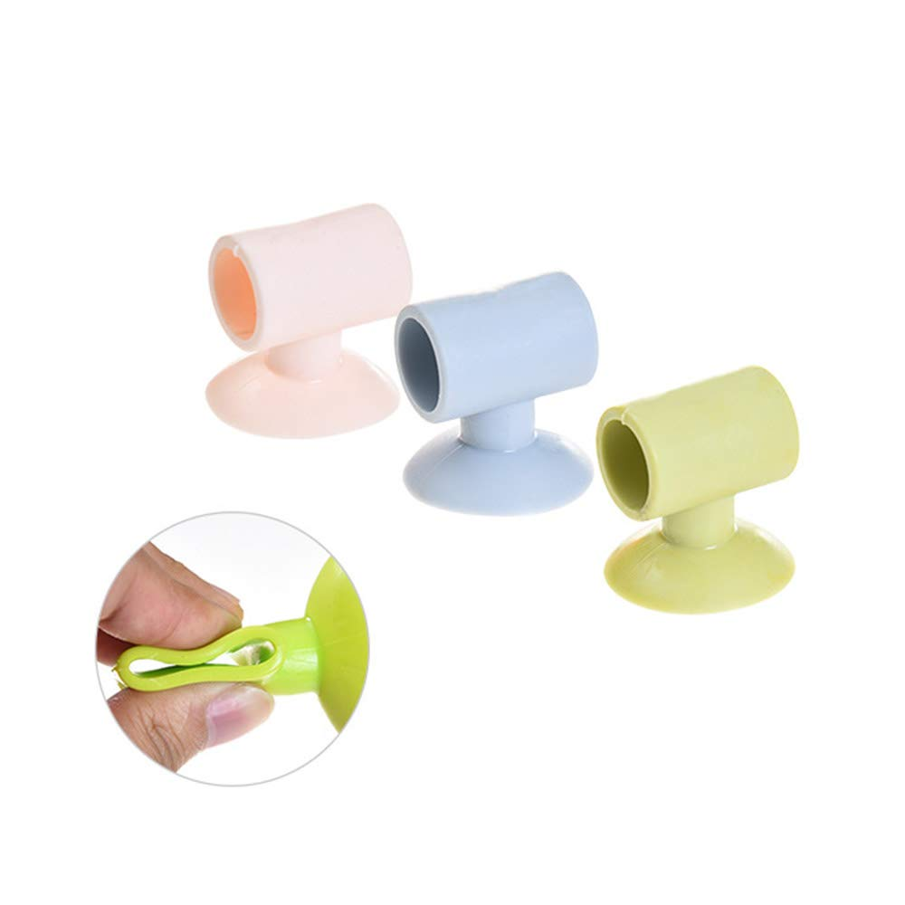 3.5 * 4cm Silicone Door Handle Cover Anti-collision Rubber Door Knob Stopper for Protecting Door and Wall(Random Color) 4PCS Hemore