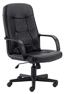 Amazoncom High Back Executive Computer Chair w Arms Kitchen