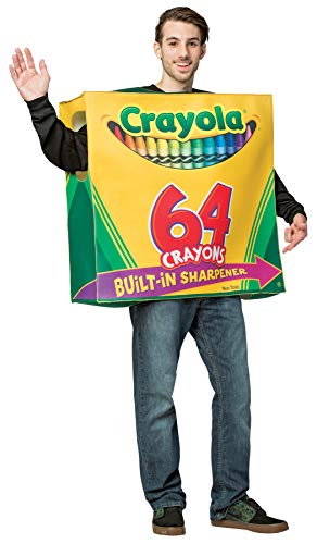 Rasta Imposta Crayola Crayon 64 Count Box Tunic Funny Theme Party Outfit Halloween Costume, OS