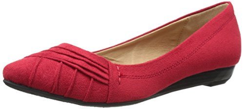 CL by Chinese Laundry Womens Saleema Ballet Flat Chili Red Super Suede