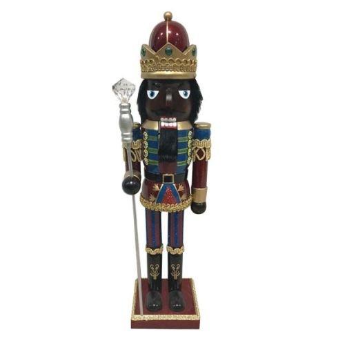 Kurt Adler 15'' Black Wooden Nutcracker King