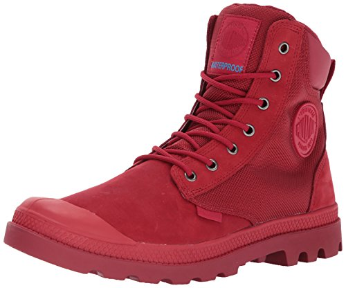 Palladium Men's Pampa Sport Cuff WPN Rain Boot, Chevron/Rio Red, 10.5 M (Red Mens Boots)