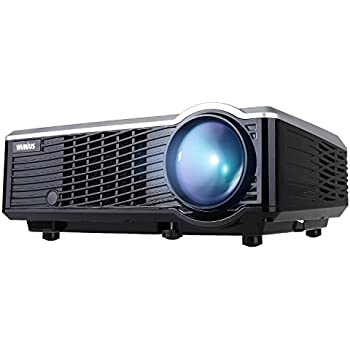 Projector, WiMiUS T7 Upgraded 3200 Lumens Mini Projector, Portable LED Projector Support 1080P HDMI USB VGA AV, Multimedia Home Theater LCD Video ...