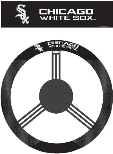 Wheel Suede Cover Poly Steering - MLB Chicago White Sox Poly-Suede Steering Wheel Cover