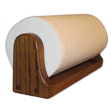 Dark Oak Paper Towel Holder (Mounted)