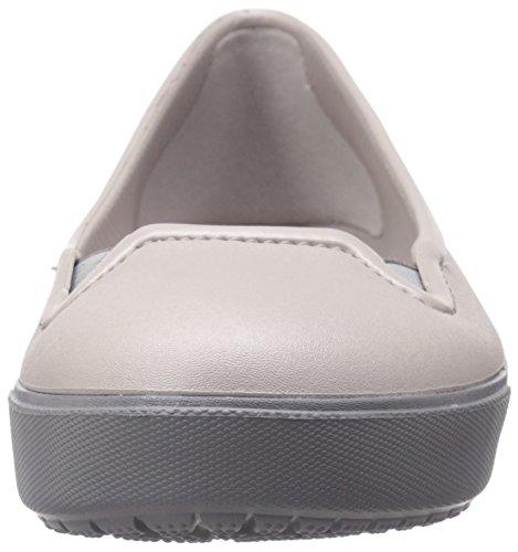 Platinum Zoccoli Flat Crocs Donna Grigio W Citilane PnYZTq8