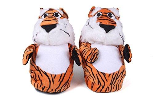 Piedi Comodi Piedi Felici Uomo E Donna Con Licenza Ufficiale Ncaa Mascotte Pantofole Tigre Ramata Tigrata