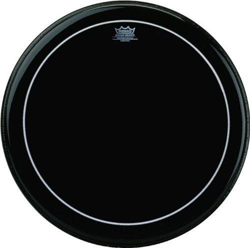 Remo ES1624-PS 24-Inch Ebony Pinstripe Bass Drum Head KMC Music Inc