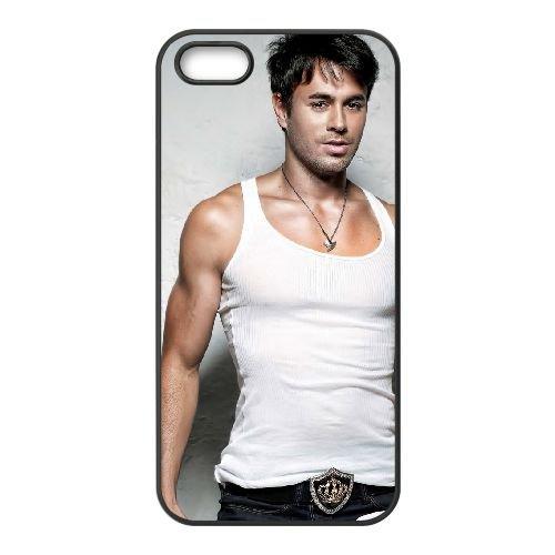 Enrique Iglesias 001 coque iPhone 5 5S cellulaire cas coque de téléphone cas téléphone cellulaire noir couvercle EOKXLLNCD23561