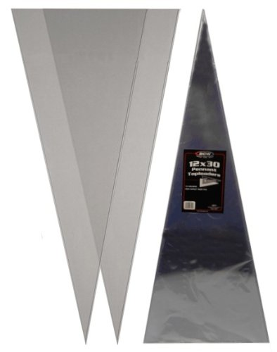 Pennant Holder - (1) 12X30 Pennant Topload Holders - Rigid Plastic Sleeves - BCW Brand