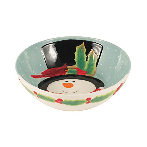 - Holly Berry Snowman Collection, Serving Bowl, Red/White