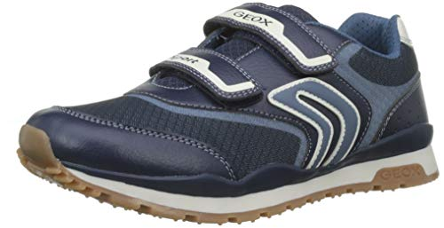 Geox Kids J Pavel A Touch Fastening Trainer Navy/Avio Size UK 1.5 EU 34 (Sneakers Mesh Geox)