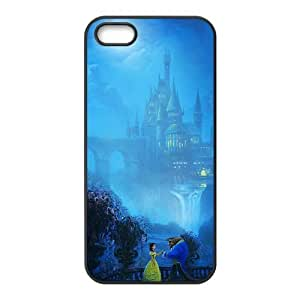 AWU DIYFashion Beauty and the Beast Personalized iPhone 5 5S Rubber Silicone Case Cover
