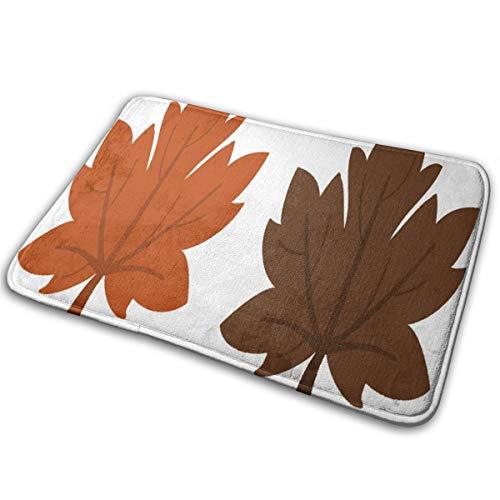 SHNUFHBD Brown Leaf Clipart Door Mat Unique Shower Home Interior Exterior Floor Rug Coral Velvet]()