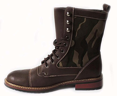 MENS MILITARY UP SHOES 8 BOOTS COMBAT BROWN801025A LACE STYLE FASHION NEW CAMO HIGH ANKLE x1ZqPfPwWn