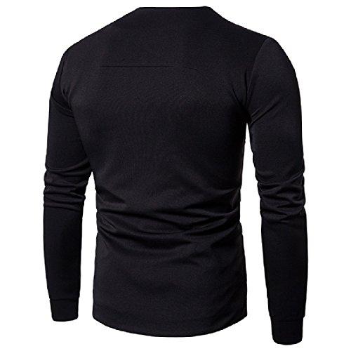 Black Howme Color Outwear Men Comfort Jacket Long Sleeve Solid Irregular w1WRxUvqw