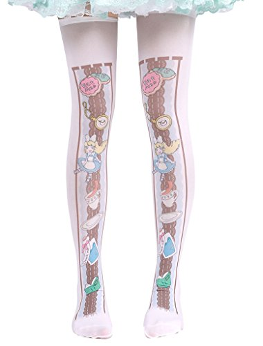 Hugme Womens cute alice in wonderland print lolita