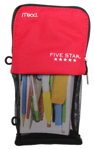 Mead Five Star Stand and Store Self Standing Pencil Pouch, Colors May Vary]()