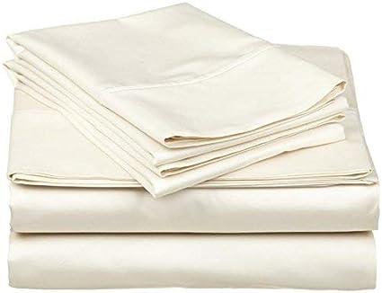 Egyptian Cotton 600TC Soft Sheet Set White Solid-Size King