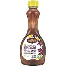 Madhava Naturally Sweet Organic Agave Pancake Syrup, Maple, 11.75 Ounce (Pack of 6)
