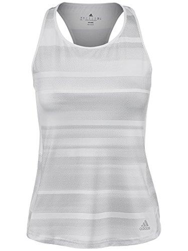 adidas Womens Tennis Advantage Tank Top, White/Print, Small Adidas Club Line