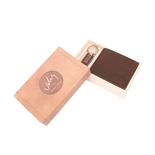 Velez Mens Genuine Columbian Leather Trifold Slimfold Wallets Credit Card Holders | Billeteras y Carteras de Cuero Colombiano para Hombres Honey