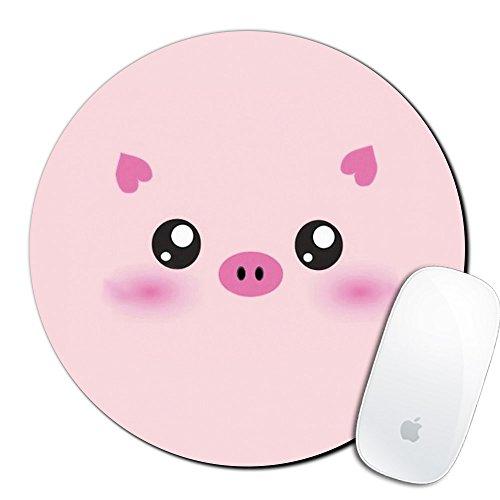Royal Up Pink Pig Custom Mouse Pad Gaming Mat Keyboard Pad Waterproof Material Non-slip Personalized Round Mouse pad (7.8x7.8x0.08Inch) (Pig Personalized)