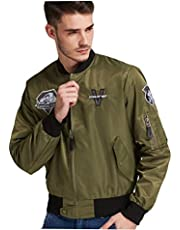 Elegant Men's Flight Bomber Jacket Diamond Dogs Metal Gear Solid 5 Regular Fit Casual Solid Outdoor Coats
