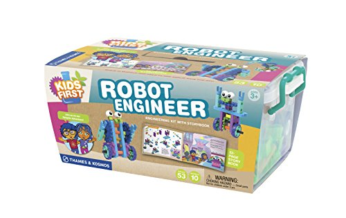 41kX16MHmpL - Kids First Robot Engineer Kit and Storybook