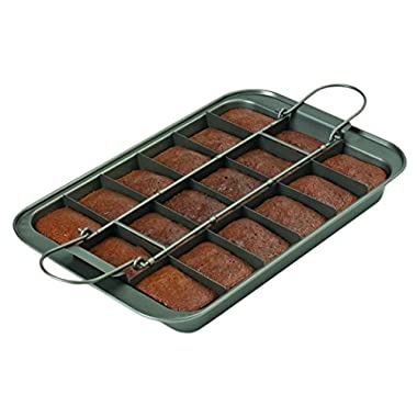 Chicago Metallic 26740 Slice Solutions Brownie Pan, 9 x 13 , Silver