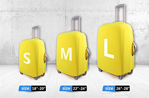 Travel Luggage Cover Leaves Walk Falling Elastic Fashion Suitcase Protector Fits 26-28 Inch