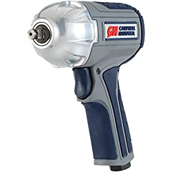 "Air Impact Wrench - Twin Hammer 3/8"" Impact Driver w/ Composite Body and Comfort Grip (Campbell Hausfeld XT00100)"