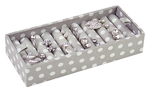 STACKERS jewelry box | gray polka dot ring holder stacker accessory for duck egg blue STACKERS