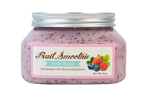 Premium, Handmade Fruit Smoothie Body Scrub - Skin Loving Shea Butter, Sweet Almond Oil - All Natural Exfoliants: Cranberry & Blueberry Seeds - Smooth, Moisturized, Radiant Skin. Cruelty Free & Vegan from Nectar Bath Treats