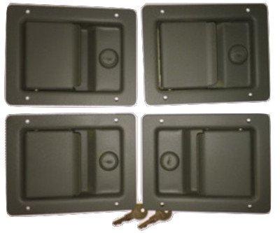SET OF FOUR NEW LOCK door latch handle HMMWV Humvee M998 M1038 M1025