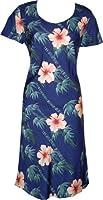 Bamboo Hibiscus Hawaiian Aloha Cap Sleeve Short Tank Dress