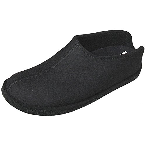 Haflinger Flair Smily, Unisex Slippers Adult Black
