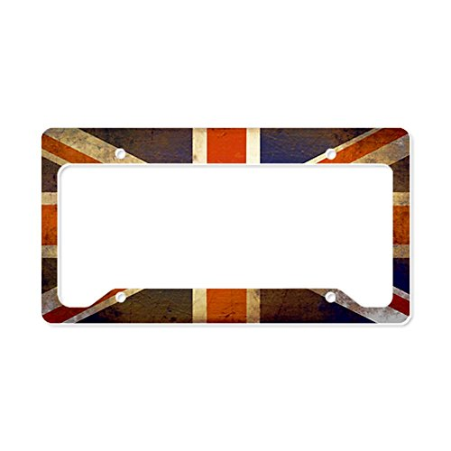 Grungy Tags (CafePress - Grungy Union Jack License Plate Holder - Aluminum License Plate Frame, License Tag)
